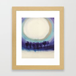 Moonlight shadows Framed Art Print