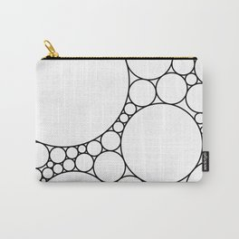 Geometric Abstract - Circles (Black) Carry-All Pouch