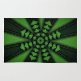 green hearted arrow Rug