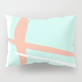 Turquoise & Coral (2) Pillow Sham