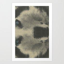 Just a lil husky. Art Print