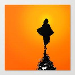 Sunset Skim Canvas Print