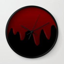 Blood Dripping Wall Clock
