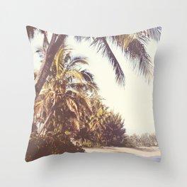 Hawaiian Palms Throw Pillow