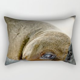 peek a boo Rectangular Pillow