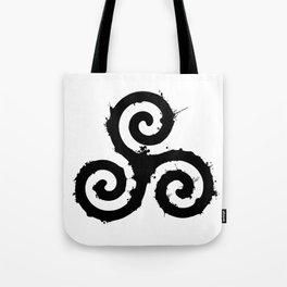 Teen Wolf - Triskelion 1 Black (Splatter) Tote Bag