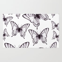 simple butterfly pattern Rug