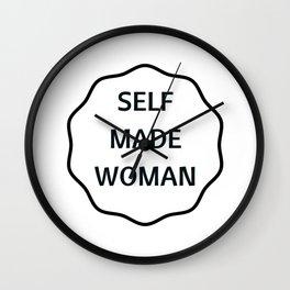 SELF MADE WOMAN Wall Clock