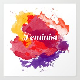 Feminism Watercolor Art Print