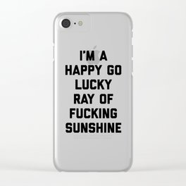 Ray Of Sunshine Funny Quote Clear iPhone Case