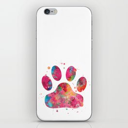 Colorful Paw iPhone Skin