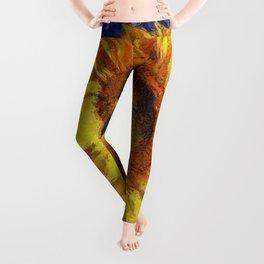 Sunflower In Van Gogh Style Leggings