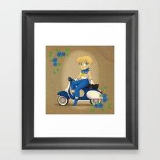 Retro Sailor Uranus Framed Art Print