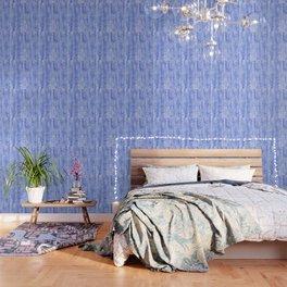 Blue Spray and Flecks Wallpaper