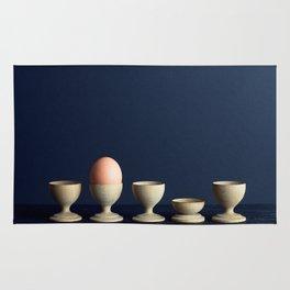 Egg in egg cup Rug