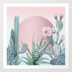 Desert Sunset by Nature Magick Art Print