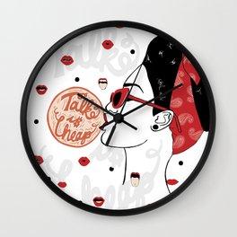 Talk is Cheap Wall Clock