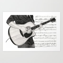 A Few Chords Art Print