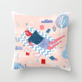 I have always imagined that Paradise will be a kind of library - Borges Throw Pillow