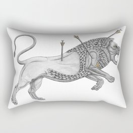 Mesopotamian Lion Rectangular Pillow