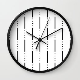 Morse Code #159 Wall Clock
