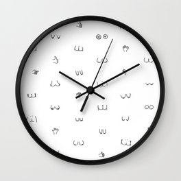 butts and boobies Wall Clock