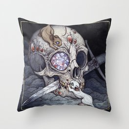 Treasure of the Devil's Bayou Throw Pillow