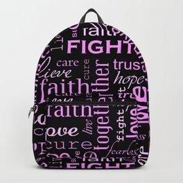 Breast Cancer - Black Backpack