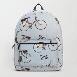 cycle biking poster pattern. Backpack