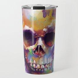colorful skull Travel Mug