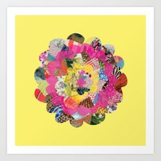 Collage Flower Art Print