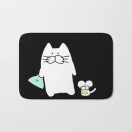 cat and mouse 223 Bath Mat