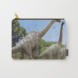 Dinosaurs walking on the river Carry-All Pouch