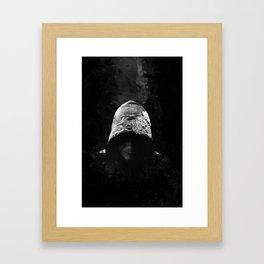 Victorian Assassin Hood - B&W Framed Art Print