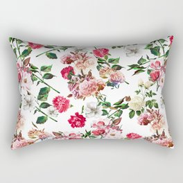 Seamless Floral Pattern Rectangular Pillow