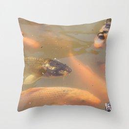 Carp fish Throw Pillow