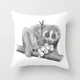 Slow Loris (Kera Duku) Throw Pillow