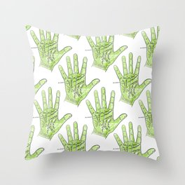 Palmistry Throw Pillow