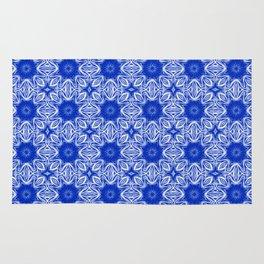 Sapphire Blue Floral Rug