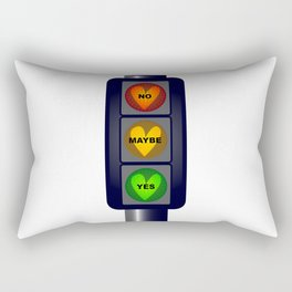 Yes No Maybe Traffic Lights Rectangular Pillow