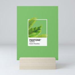 Pantone Series –Green Paradise Mini Art Print