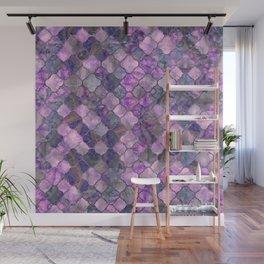 Quatrefoil Moroccan Pattern Lilac Fluorite Wall Mural