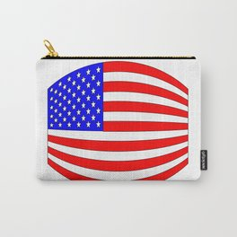 USA Stars and Stripes Flag Wide Carry-All Pouch