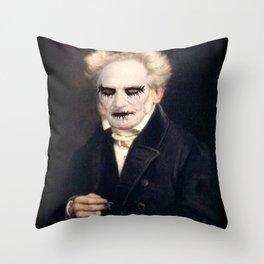 Black Metal Schopenhauer Throw Pillow