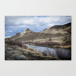 John Day River and Sheep Rock Canvas Print