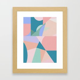 Colorful dance Framed Art Print
