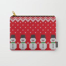 Knitted snowman pattern Carry-All Pouch