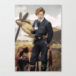 Tea and Spitfires Canvas Print