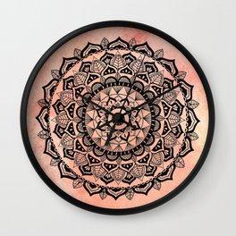 Desert Rose Mandala Wall Clock