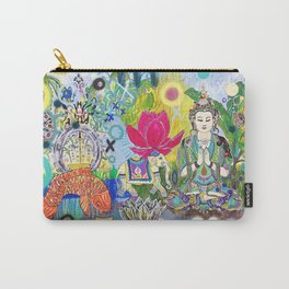 Green Tara in Paradise Carry-All Pouch